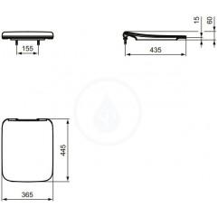 Ideal Standard WC sedátko ultra ploché, bílá T360001