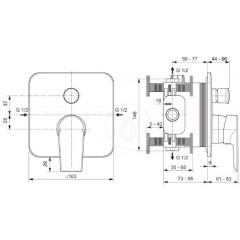 Ideal Standard Vanová baterie pod omítku, chrom A7124AA