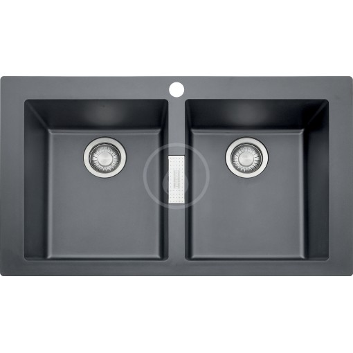 Franke Tectonitový dřez SID 620, 860x510 mm, černá 114.0120.461