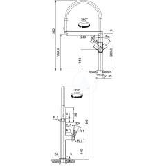 Franke Dřezová baterie FC 7873 s flexibilním ramenem, černá/nerez 115.0547.855