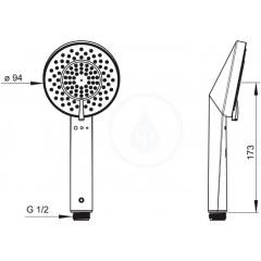 Hansa Ruční sprcha, 3 proudy, chrom 65320100