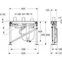 Hansa Montážní těleso Compact pro vanovou baterii, 3-otvorová instalace 53010200