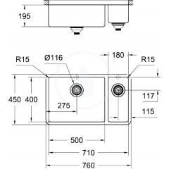 Grohe Dřez K700, 760x450 mm 31575SD0