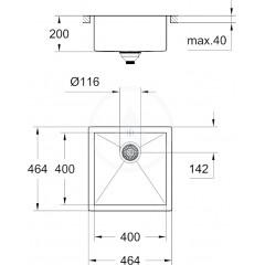 Grohe Dřez K700, 464x464 mm 31578SD0