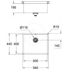 Grohe Dřez K700, 540x440 mm, nerez 31574SD0