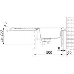 Franke Kuchyňský set G19, granitový dřez EFG 614-78, šedý kámen + baterie FC 9541.084, šedý kámen 114.0120.400