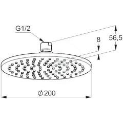 Kludi Hlavová sprcha, průměr 200 mm, chrom 6432005-00