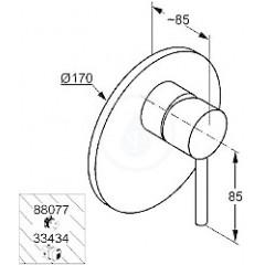 Kludi Sprchová baterie pod omítku, chrom 388600576