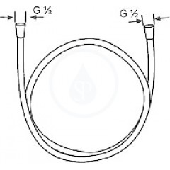 Kludi Logoflex sprchová hadice, chrom 6105505-00