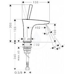 Hansgrohe Stojánkový ventil, chrom 15132000