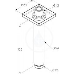 Kludi Sprchové rameno 150 mm, chrom 6653505-00