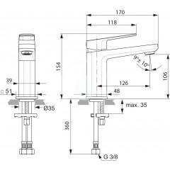 Ideal Standard Umyvadlová baterie, chrom A6327AA