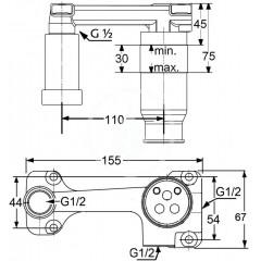 Kludi Instalační podomítkové těleso DN15 38243