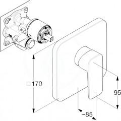 Kludi Sprchová podomítková baterie, chrom 406550575
