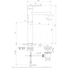 Ideal Standard Umyvadlová baterie s odtokovou soupravou, chrom B0619AA