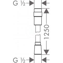 Hansgrohe Sprchová hadice Isiflex 1250 mm s regulací průtoku, chrom 28249000