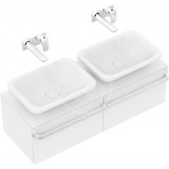 Ideal Standard Skříňka pod dvojumyvadlo, 1200x440x350 mm, lesklá bílá R4305WG