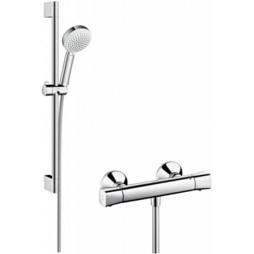 Hansgrohe Sprchový set Vario s termostatem, sprchová tyč 650 mm, bílá/chrom 27030400