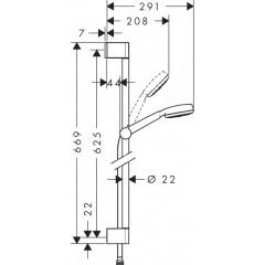 Hansgrohe Sprchová souprava 1jet 0,65 m, bílá/chrom 26652400