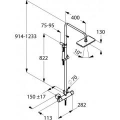 Kludi Dual Shower System, termostatická sprchová souprava, chrom 4909505-00