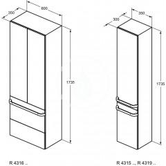 Ideal Standard Nábytková rukojeť 350 mm, chrom R4355AA