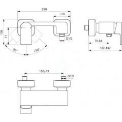 Ideal Standard Sprchová baterie, chrom A7120AA