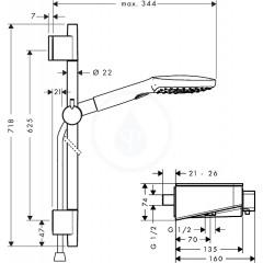Hansgrohe Sprchový set 120 s termostatem ShowerTablet Select, 3 proudy, bílá/chrom 27026400