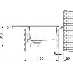 Franke Fragranitový dřez BFG 611-62, 620x500 mm, onyx 114.0285.105
