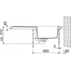 Franke Fragranitový dřez BFG 611-78, 780x500 mm, grafit 114.0285.165