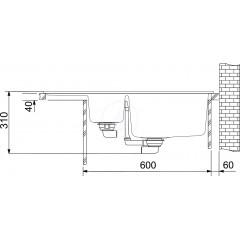 Franke Fragranitový dřez BFG 611-78, 780x500 mm, vanilka 114.0285.191