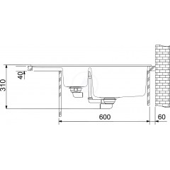 Franke Fragranitový dřez BFG 651-78, 780x500 mm, šedý kámen 114.0285.224