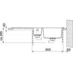 Franke Fragranitový dřez MTG 651-100/2, 1000x515 mm, šedý kámen 114.0150.022