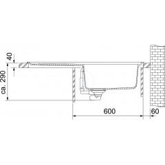 Franke Tectonitový dřez OID 611-78, 780x500 mm, kávová 114.0288.590