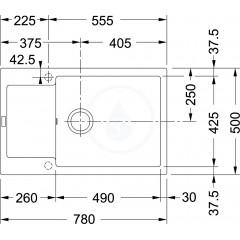 Franke Fragranitový dřez BFG 611, 970x500 mm, kašmír 114.0494.758