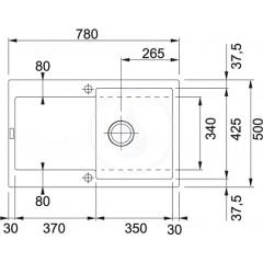 Franke Fragranitový dřez MRG 611, 780x500 mm, onyx 114.0284.833