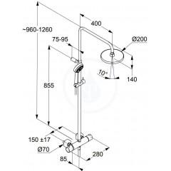 Kludi Sprchový set Dual Shower System s termostatem, 200 mm, chrom 6809205-00