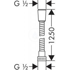 Hansgrohe Sprchová hadice 1250 mm, chrom 28262000