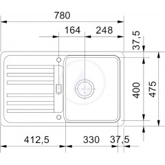 Franke Kuchyňský set G18, granitový dřez EFG 614-78, tmavě hnědá + baterie FC 9547.031, chrom 114.0252.880