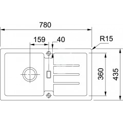 Franke Kuchyňský set G90, granitový dřez STG 614-78, grafit + baterie FC 9547, grafit 114.0366.009