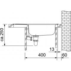 Franke Kuchyňský set N32, nerezový dřez ETN 611-58 + baterie FB 250, chrom 101.0283.215