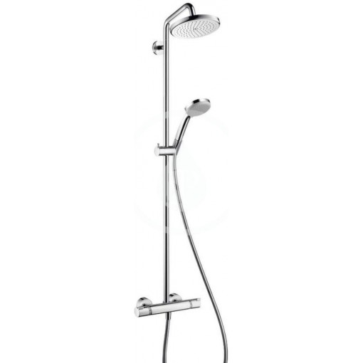 Hansgrohe Sprchový set Showerpipe s termostatem, 220 mm, 1 proud, chrom 27185000