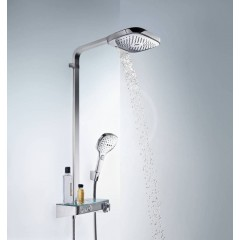 Hansgrohe Sprchový set Showerpipe 300 s termostatem ShowerTablet Select, 3 proudy, chrom 27127000