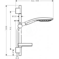 Hansgrohe Sprchová souprava 150, 3 proudy, chrom 27803000
