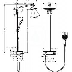 Hansgrohe Sprchový set s termostatem ShowerTablet, 300 mm, 2 proudy, chrom 27126000