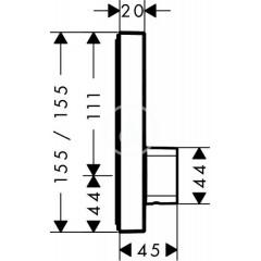 Hansgrohe Sprchová baterie pod omítku, 1 výstup, chrom 15767000