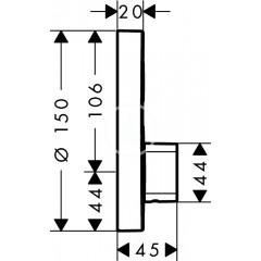 Hansgrohe Sprchová baterie pod omítku, pro 1 výstup, chrom 15747000
