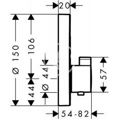 Hansgrohe Termostatická baterie pod omítku pro 2 spotřebiče, chrom 15743000
