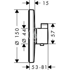 Hansgrohe Termostatická baterie pod omítku, chrom 15755000