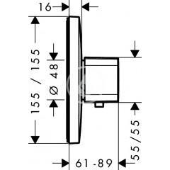 Hansgrohe Termostatická baterie HighFlow pod omítku, chrom 15706000