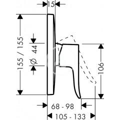 Hansgrohe Sprchová baterie pod omítku, chrom 31456000